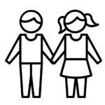 enfants et sophrologie se tenant par la main